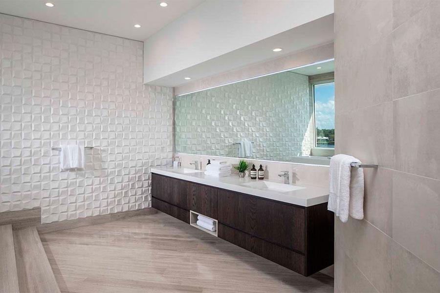 Doble lavabo con mueble a medida